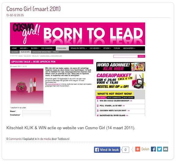 cosmogirl maart 2011