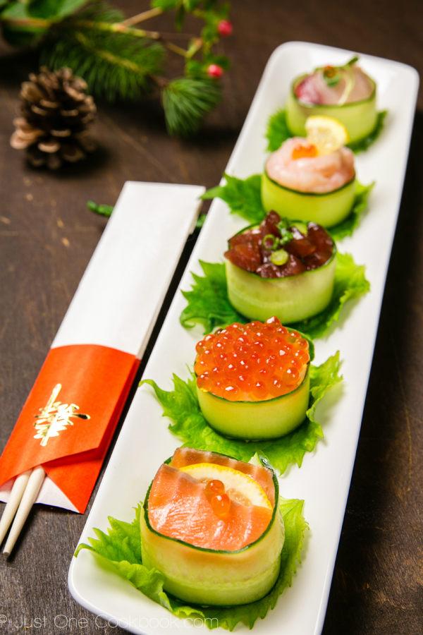 Cucumber-Wrapped-Sushi-