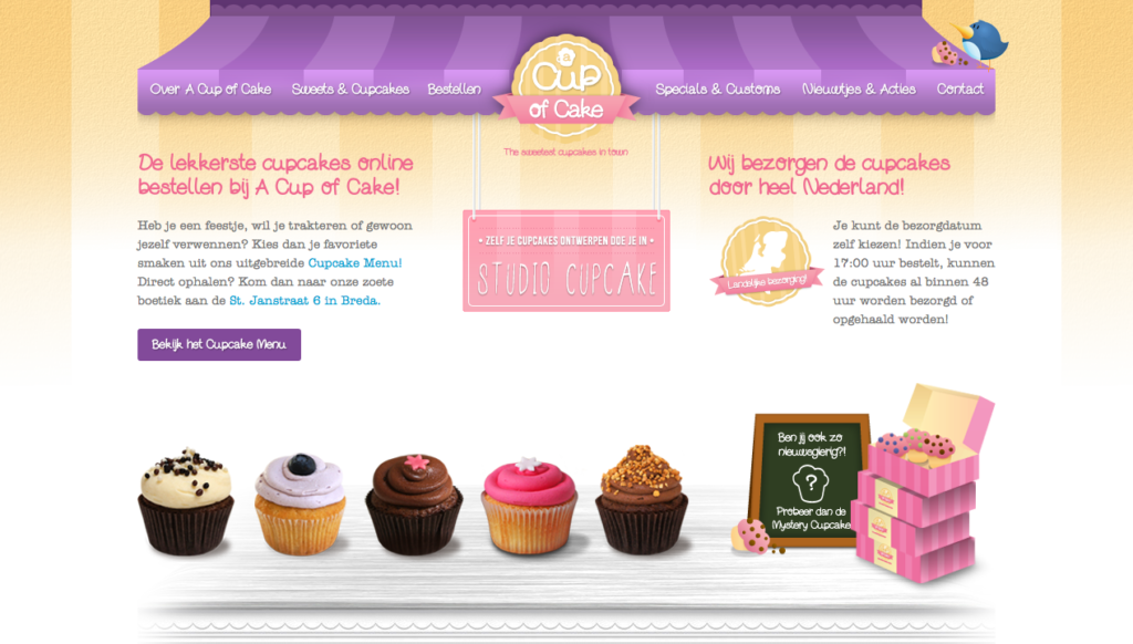 a cup of cake website
