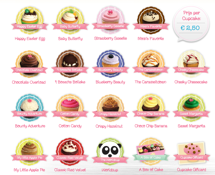 cupcake menu van a cup of cake