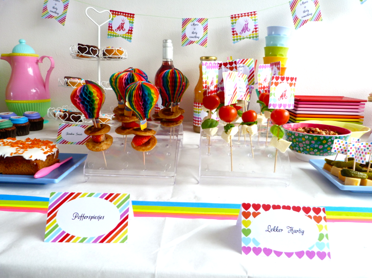 pofferspiesjes rainbow party