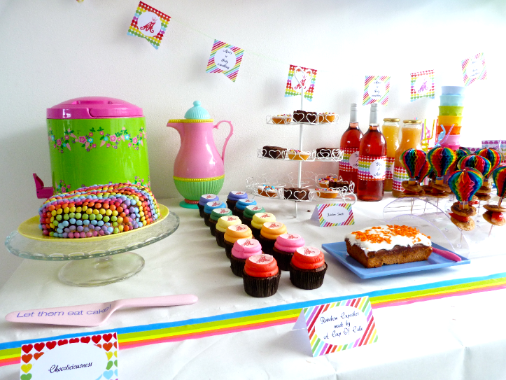 rainbow party cupcakes en limonadetank