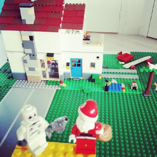 lego scenery santa