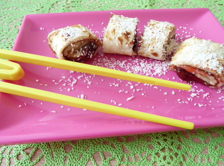 nutella maki met chopsticks