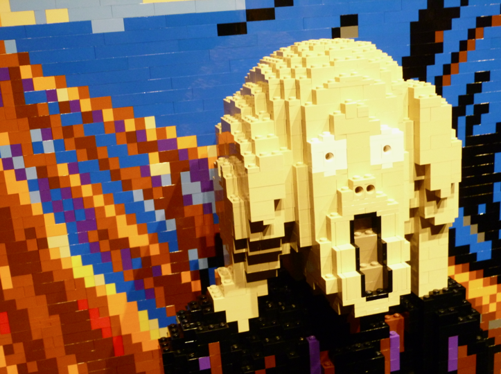 the scream LEGO close up