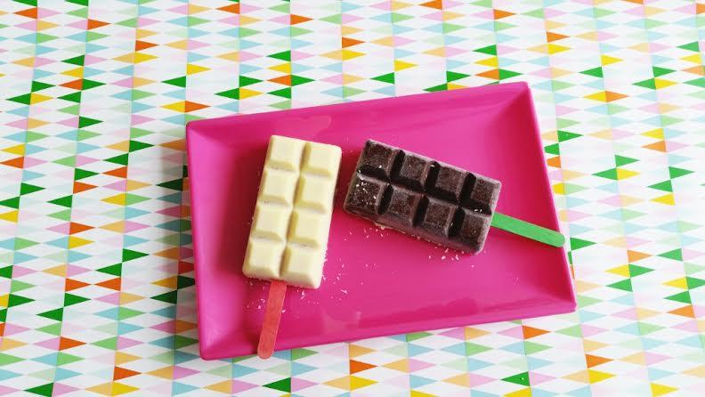 ijsjes chocoladereep vorm