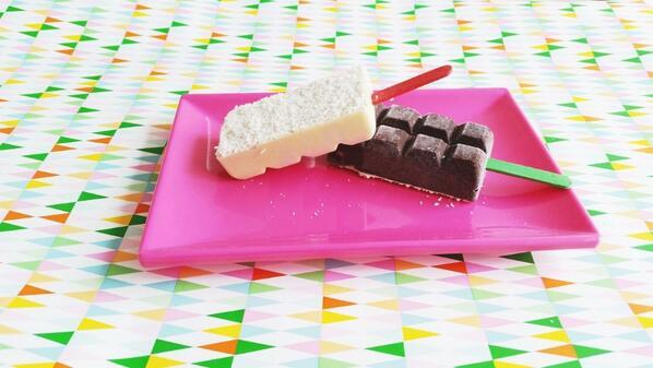 ijsjes maken chocoladereep