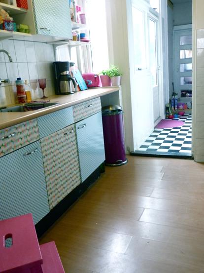 plakfolie op keukenkastjes NAfoto2