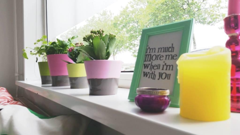 diy dip dye plantenpotten