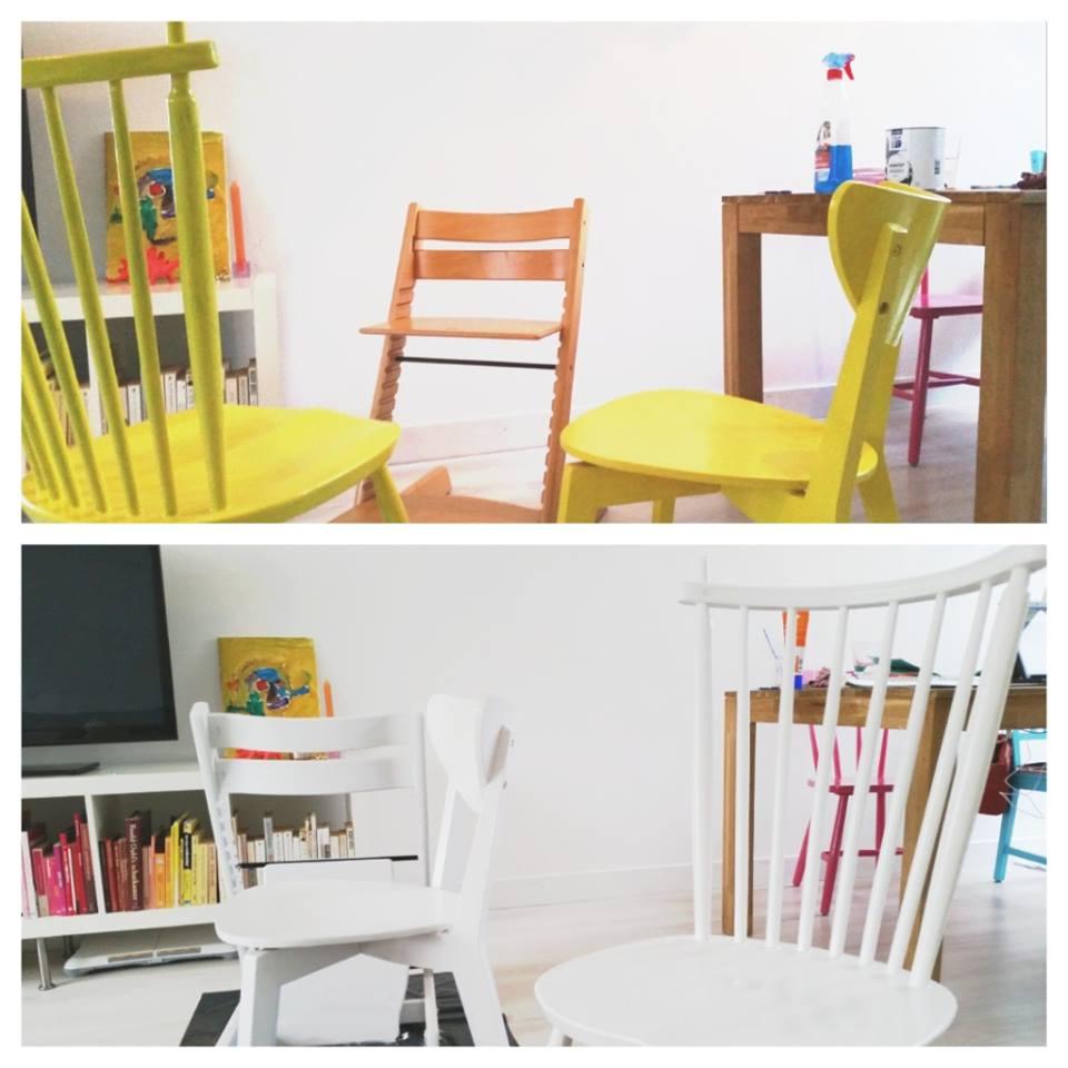 stoelen schilderen