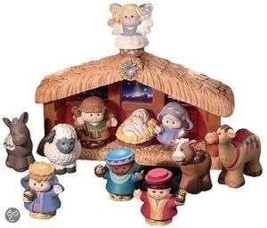 Kerststal Little People
