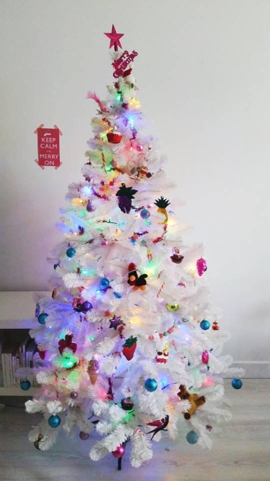 kerstboom in donker