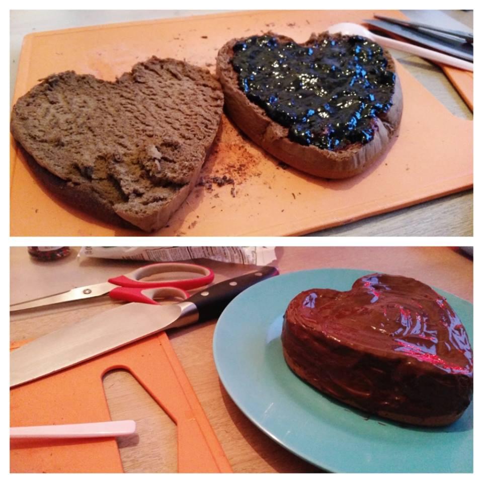 xmas baking taart vullen