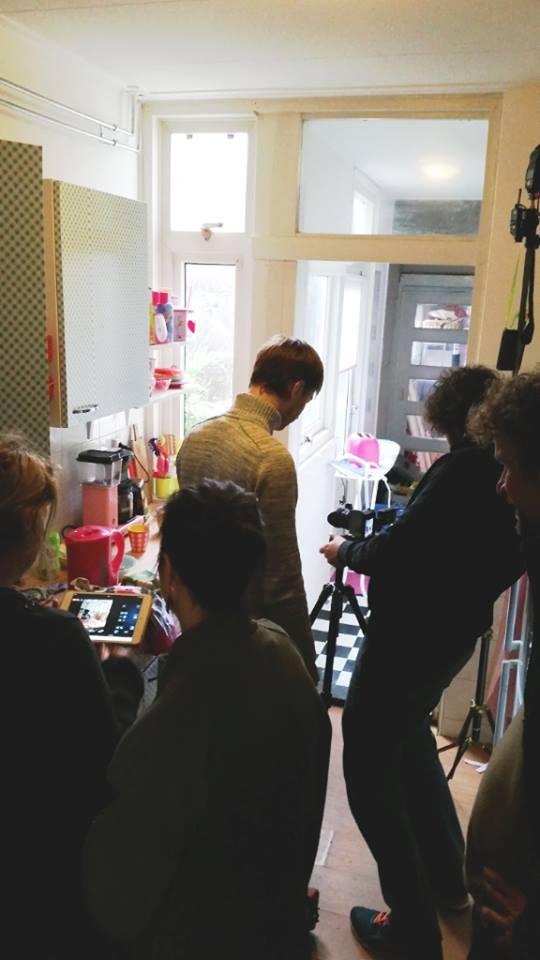 backstage fotoshoot zeeman keuken