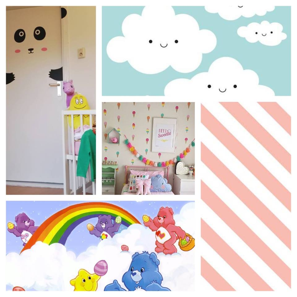 kawaii kinderkamer collage