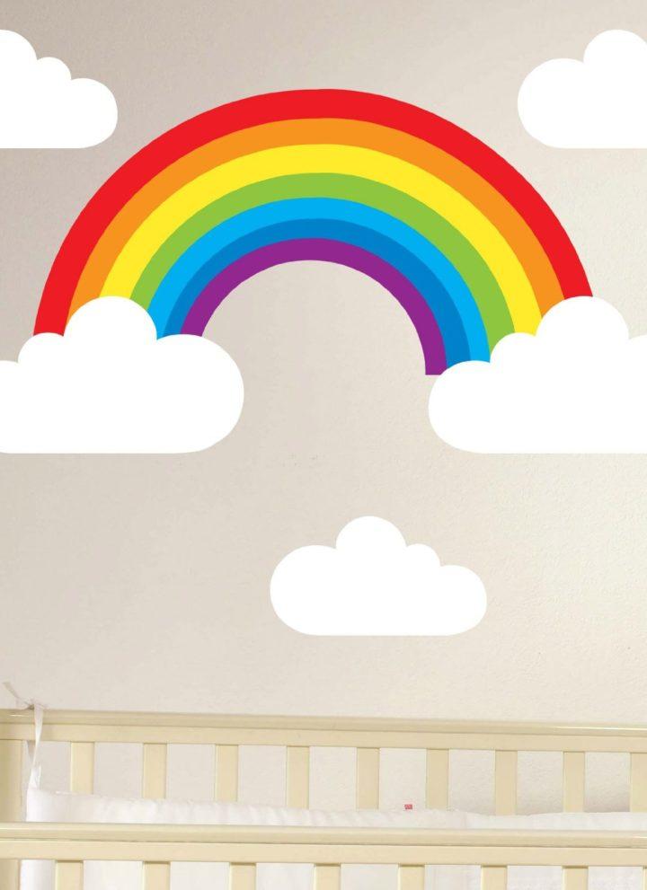 regenboog muursticker