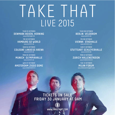 Take That Tour Data 2015