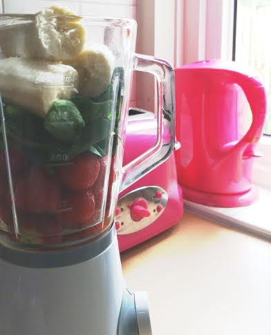 fruitige spinazie smoothie ingredienten
