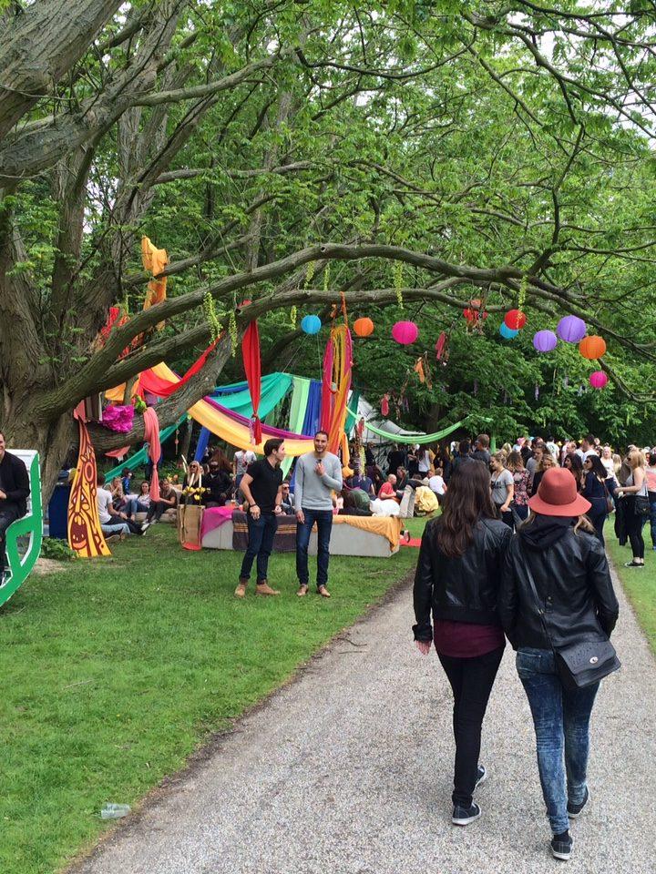 De aankleding van het Mystic Garden festival was kleurrijk