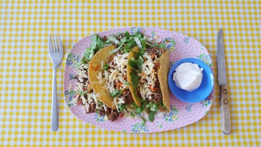 taco met andijvie