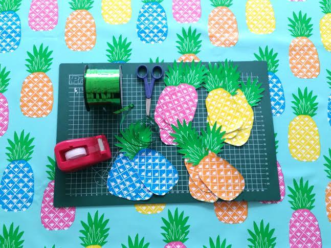 ananas slinger geknipt uit zeil