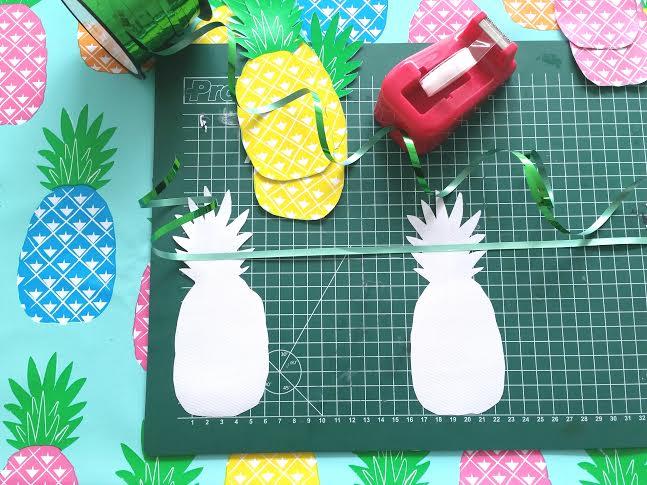 ananas slinger plakken