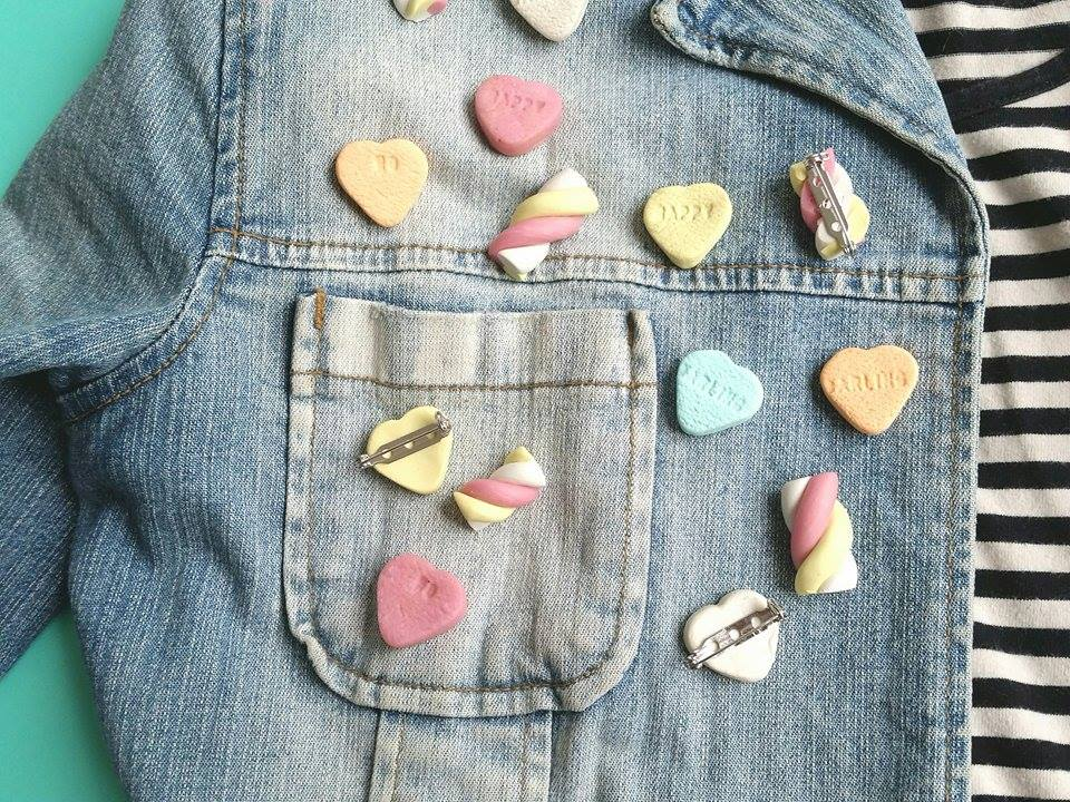 diy fimo broches candy