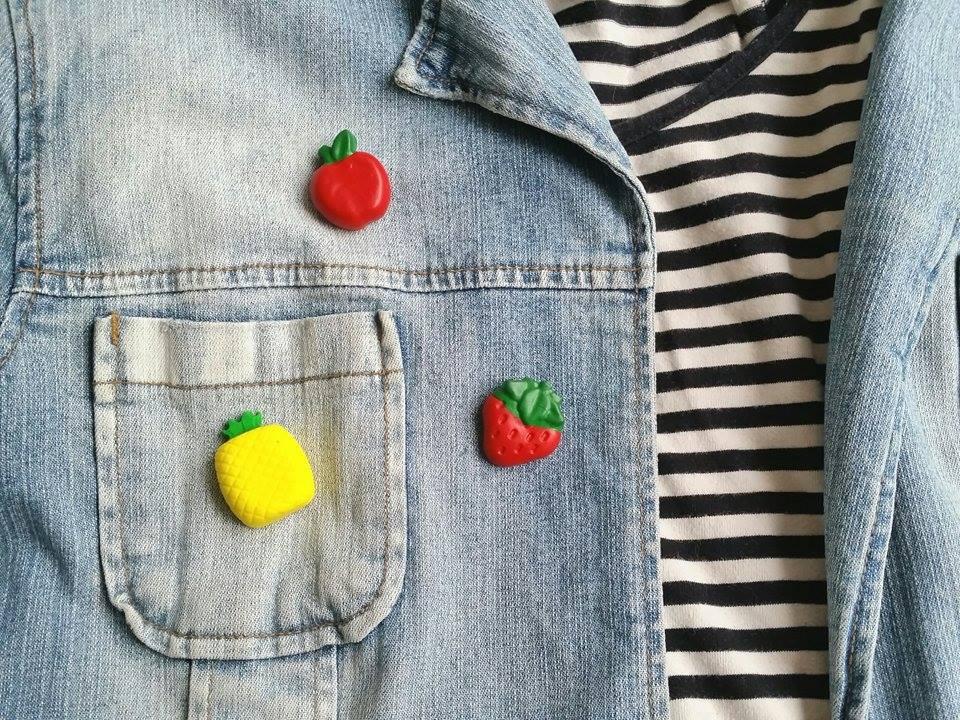 diy fimo broches fruit