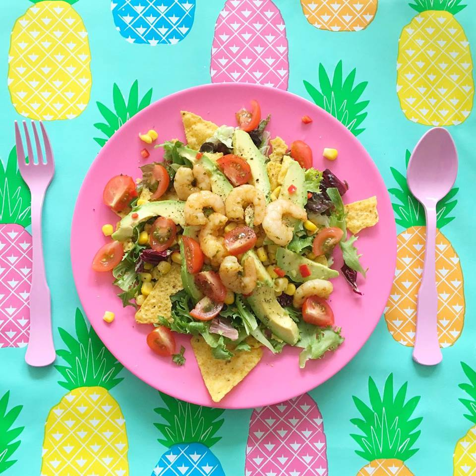 mexicaanse salade garnalen