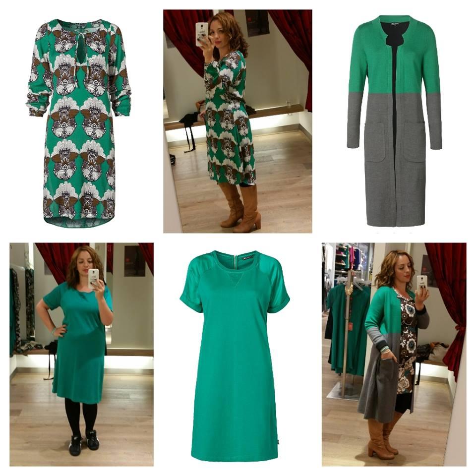 4da42dc3340e15 Het groene jurkje met de drukke print stond op het lijstje van mijn  favorieten en hij stond me ook mooi! Alleen was de lengte voor mij net niet  geschikt.