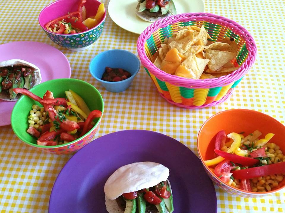 mexicaanse burgers en salade