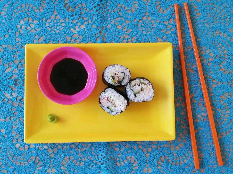 sushi home made blauw