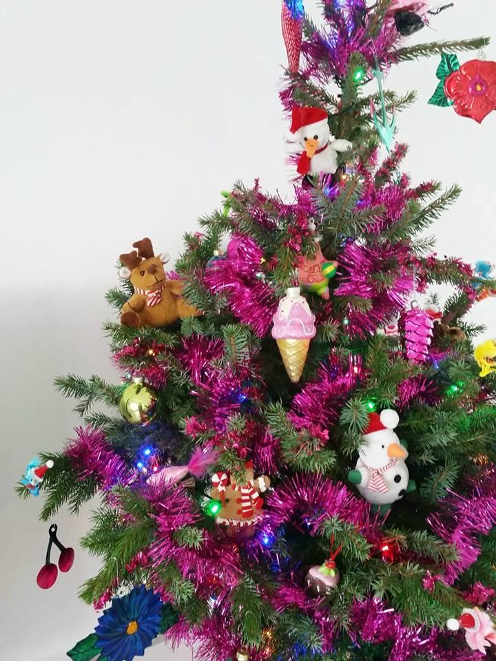 kerstboom close up zijkant