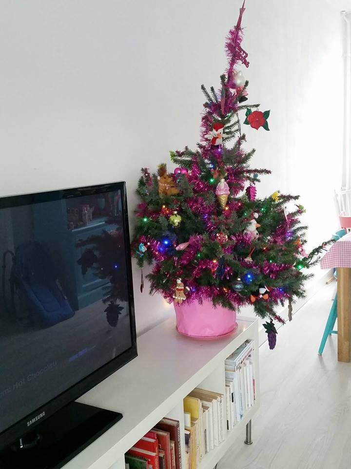 kerstboom tikkeltje schuin