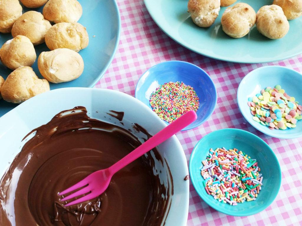 soesjes chocolade smelten