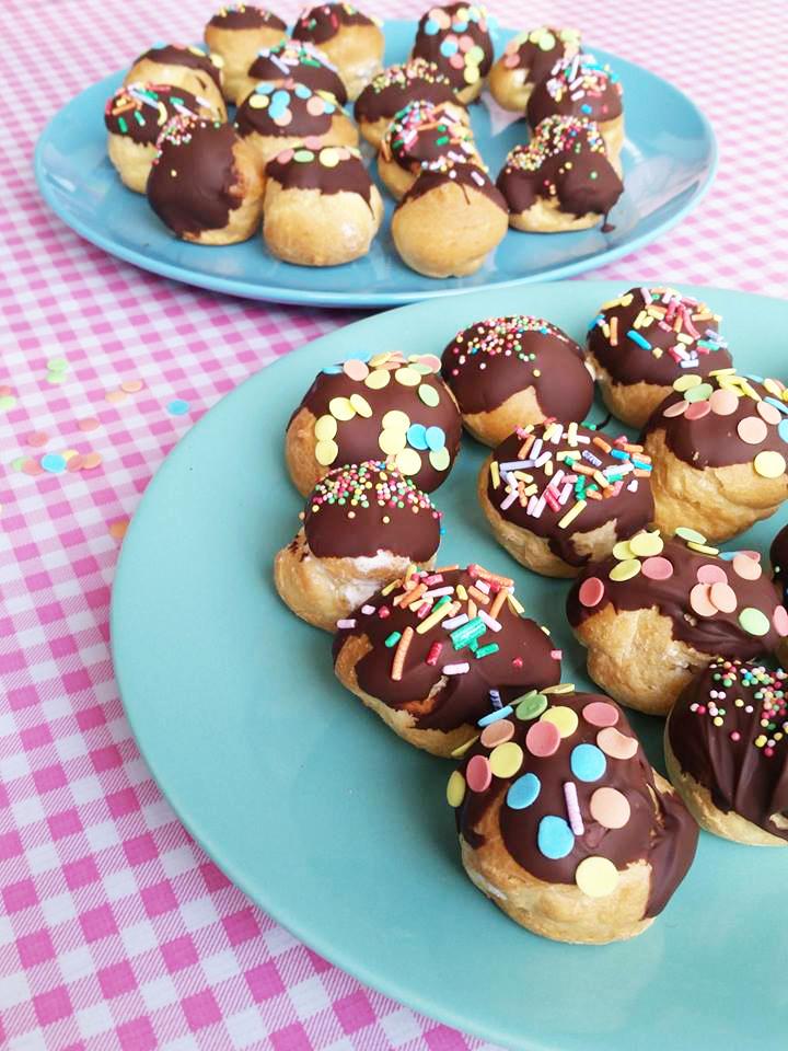 soesjes chocolade sprinkles