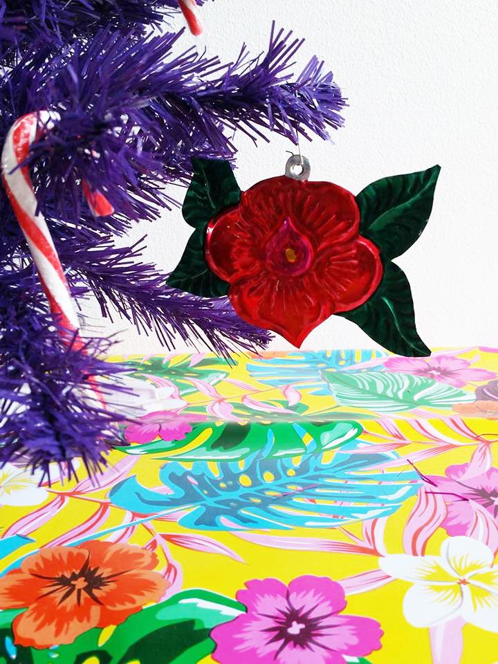 tropische kerstboom hanger bloem