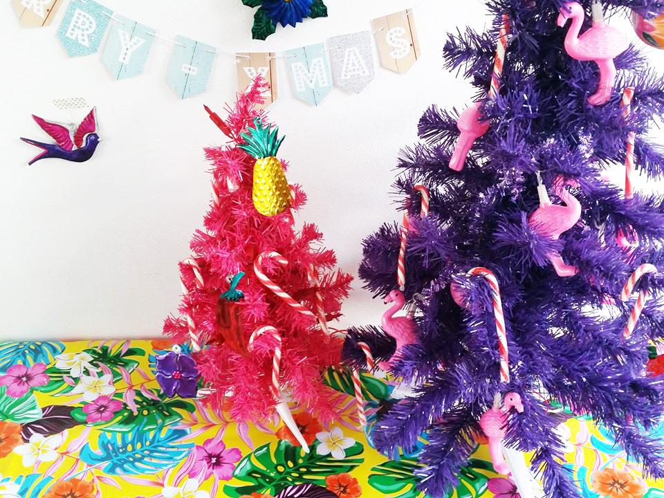 tropische kerstboompjes