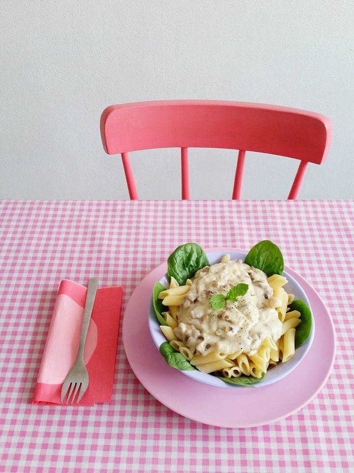 pasta met champignonsaus