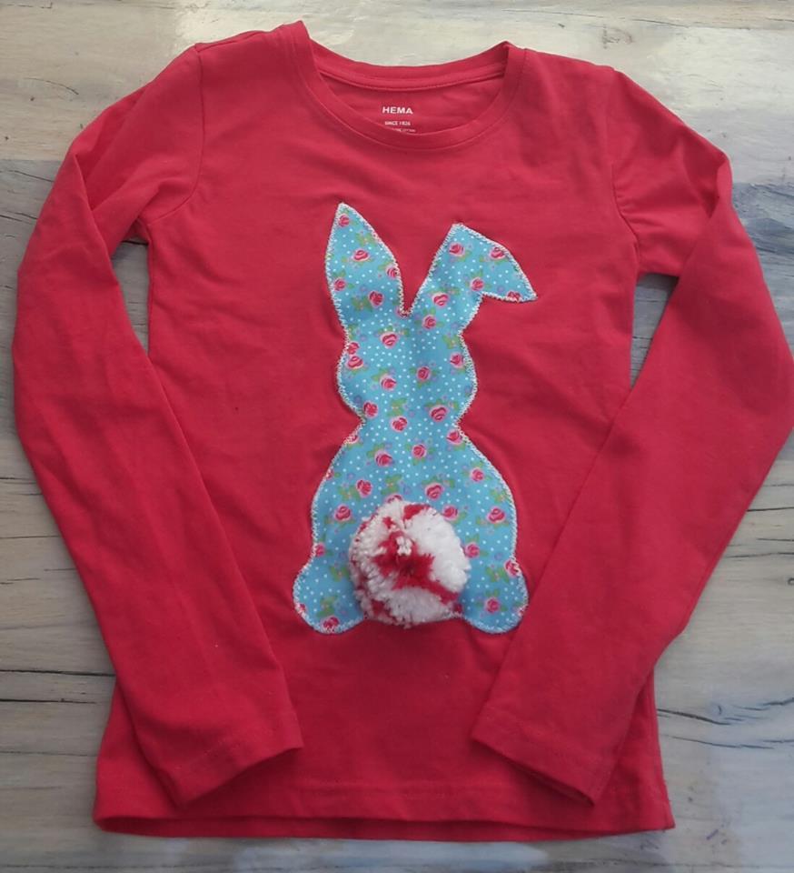 diy bunny shirt rina