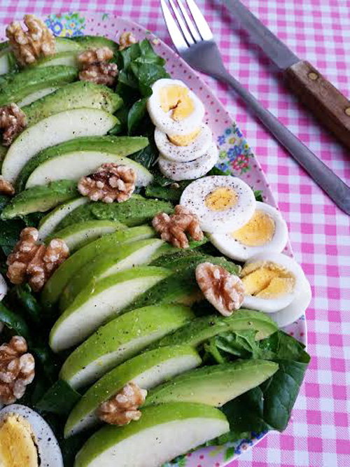 spinazie-salade-ei-avocado