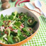 Supergroene Salade met Kip, Komkommer & Kiwi