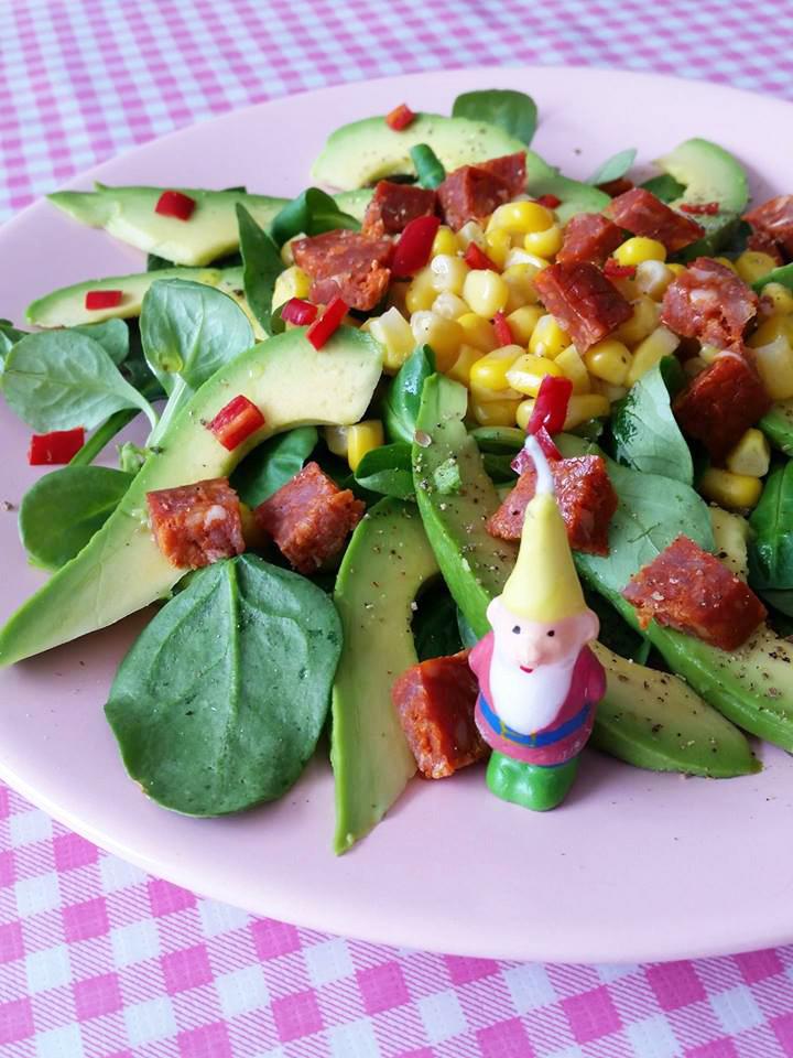 spaanse-salade-mais-chorizo