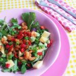 Tropische Salade met Mango & Garnalen