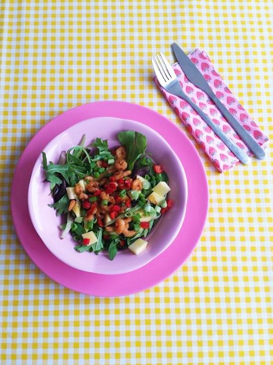 salade-mango-garnalen-pepers