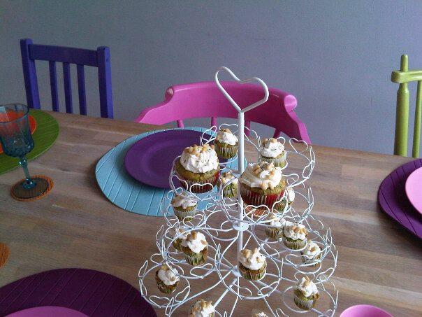 spinazie geitenkaas cupcakes