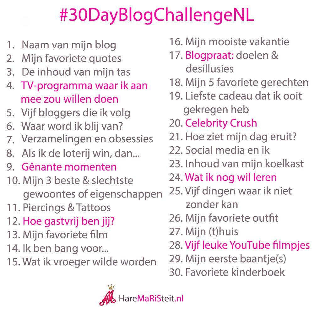 Aankondiging - #30dayblogchallenge