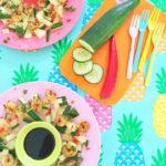 Spicy Salade met Ananas & Garnalen