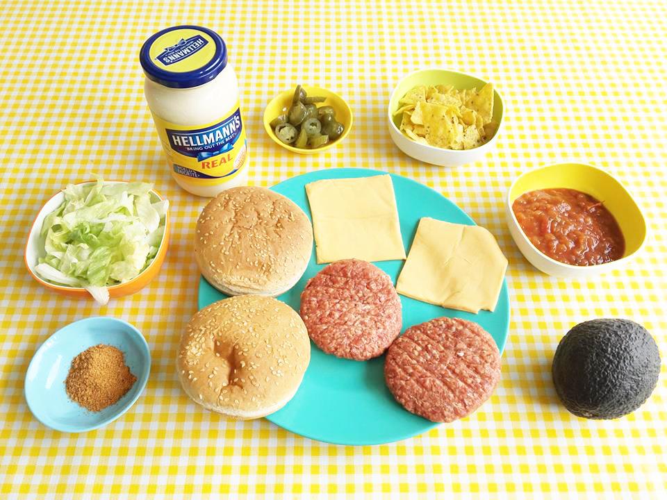 mexicaanse burger ingredienten