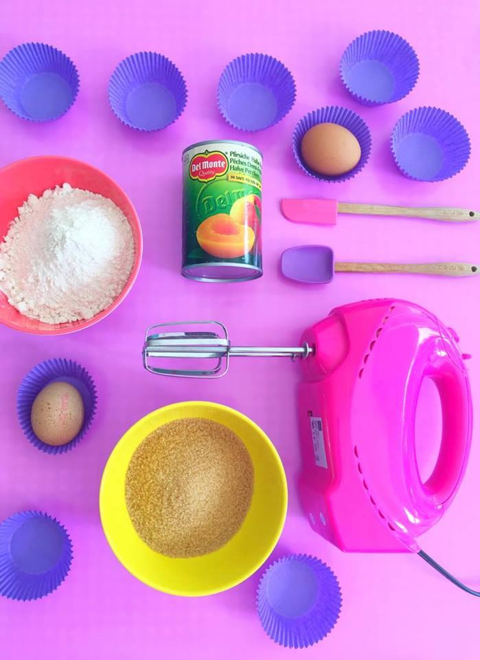 perzikcupcakes ingredienten